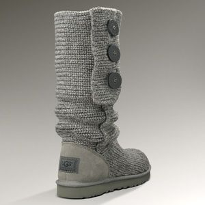 UGG Classic Cardy Crochet Knit Boots